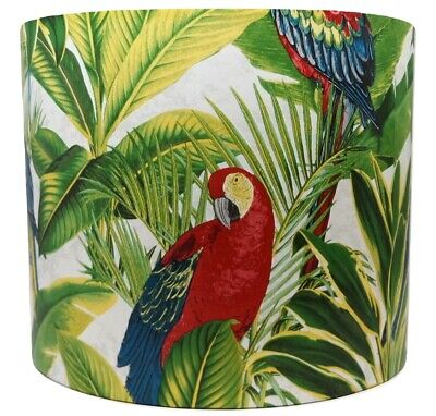 £28.99 • Buy Tropical Palm Leaf Leaves Parrot Botanical Bird Lampshade Light Shade Bedroom