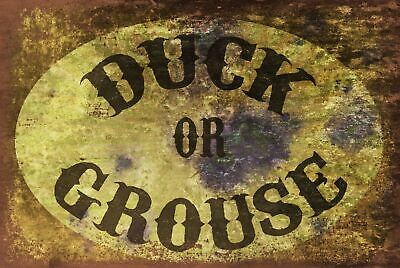 £2.49 • Buy Low Ceiling Humorous Warning Duck Or Grouse Vintage Retro Style Sign Plaque, Pub