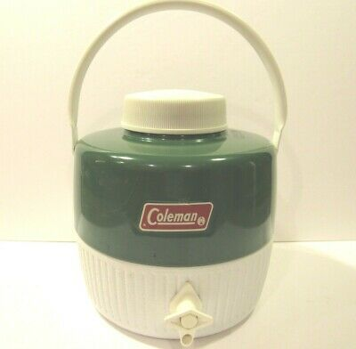 $19.67 • Buy VINTAGE Coleman Green Water Jug 1 Gallon Sports Camping Picnic Thermos COMPLETE