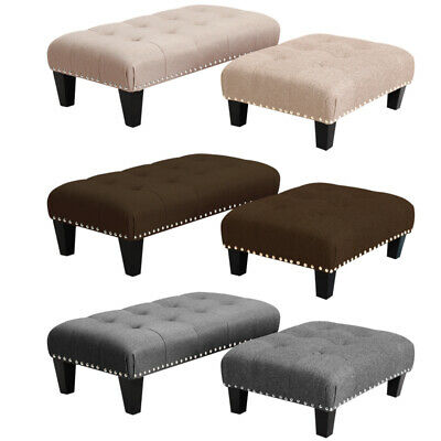 £35.95 • Buy Foot Rest Pouffe Stool Padded Seat Ottoman Footstool Chair Sofa Bench Stools NEW