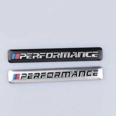 AU9.99 • Buy M Performance Black/Silver Car Badge BMW M Power Sport Dash Sticker 85mm X 12mm