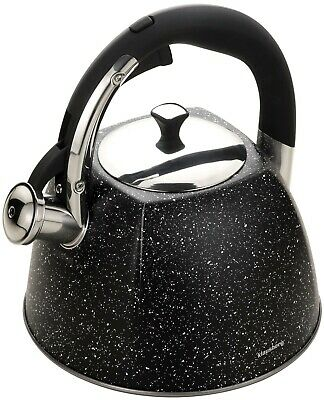 KLAUSBERG Whistling Kettle 3 L Stainless Steel Marble Black Induction/STOVE TOP • 24.99£