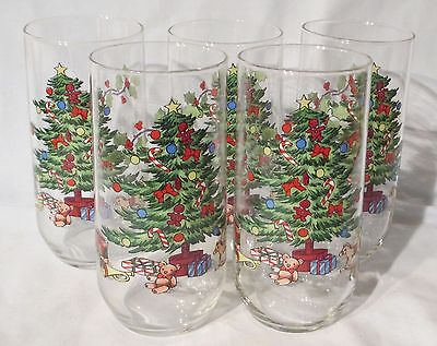 $40.79 • Buy Tienshan Holiday Hostess Tall Glass Tumbler Set Of 5