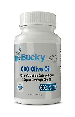 AU42.30 • Buy C60 Olive Oil Capsules Ultra Pure 99.95% Carbon 60 In Organic Olive Oil