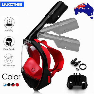 AU28.65 • Buy 2019 Full Face Snorkeling Snorkel Mask Diving Goggles Breather Pipe For GoPro