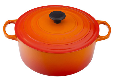 $ CDN355.22 • Buy Le Creuset Cast-Iron Round Dutch Oven-(Flame)-5 1/2-Qt-5.5 Qt-Retail $450