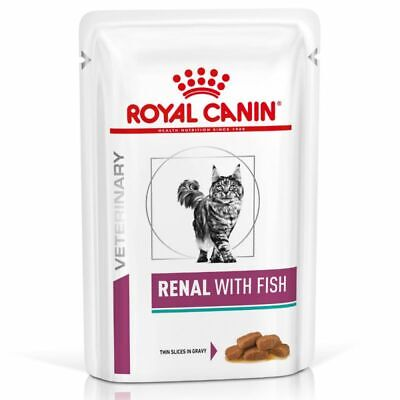 Royal Canin Veterinary Diet Feline Renal Tuna Chicken Beef Wet Cat,48x85g Pouch • 55.98£