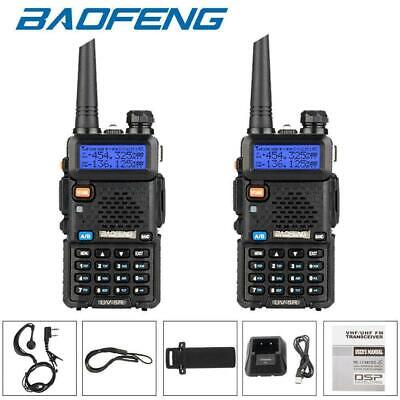 2X BAOFENG UV-5R VHF/UHF Dual Band Two Way Radios Walkie Talkie Transceiver 2020 • 35.95£