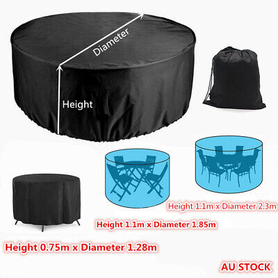 AU20.99 • Buy Outdoor Furniture Round 1.28m/1.85m/2.3m Cover Waterproof Garden Table Shelter