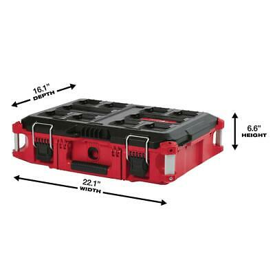 View Details Milwaukee PACKOUT Tool Storage Box 22 In. 75 Lb. Capacity Lockable Water Proof • 73.47$