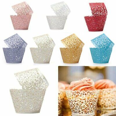£3.99 • Buy Lace Laser Cut Cupcake Wrapper Wraps Cases Filigree Vine Baking Cup Muffin UK