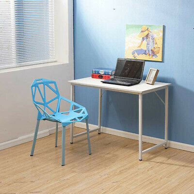White Computer Desk Study Table PC Laptop Workstation Home Office Study Wood BN • 44.99£