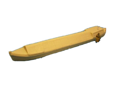 £7.95 • Buy OO Gauge Model Railway 1:76 Scale 4mm Canal Narrow Boat With Covered Hold 0277
