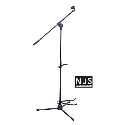 Microphone Stand With Boom Arm, Tripod Base And Guitar Stand • 12.09£