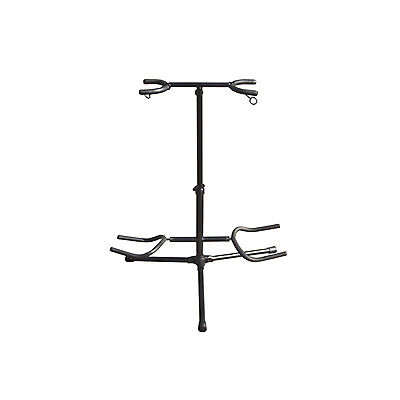 $ CDN11.97 • Buy Twin Guitar Floor Stand For 2 Electric Or Acoustic Guitars