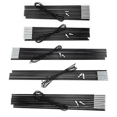£9.30 • Buy ON SALE Hiking Camping Tent Awning Repair Replacement Fibreglass Pole Kit Black