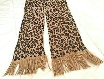 $13.64 • Buy Leopard Print Wrap Scarf Bandana Handkerchief Face Mask Head Design Light Gold