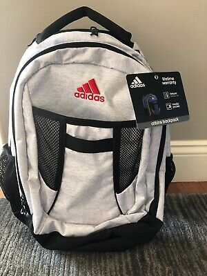 $34.99 • Buy ADIDAS WHITE Black Atkins MEDIUM Backpack LARGE CAPACITY LAPTOP SCHOOL MEDIA BAG