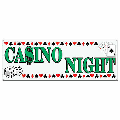 $7.15 • Buy Casino Night Sign Banner
