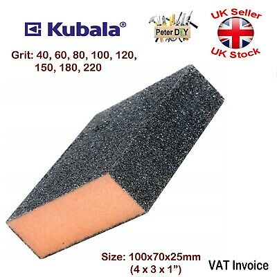 SANDING BLOCK Pads SPONGE Foam WET AND DRY Sandpaper SANDING 40-220 GRIT • 2.39£