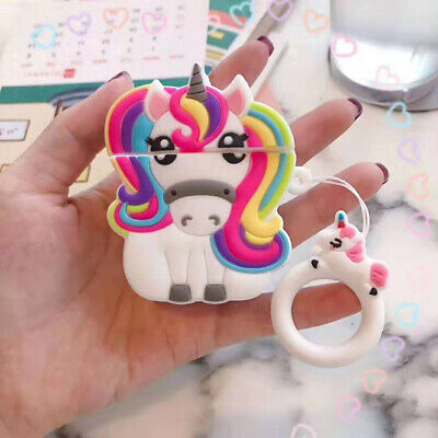 $ CDN6.69 • Buy For AirPods Case Protective 3D Cartoon Unicorn Silicone Earphone Charging Cover