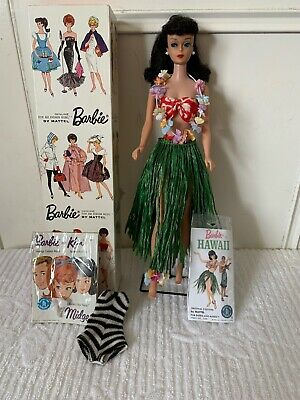 $ CDN496.22 • Buy 1962 Vintage Brunette #6 Ponytail Barbie In Original Box With Rare # 1605 Outfit