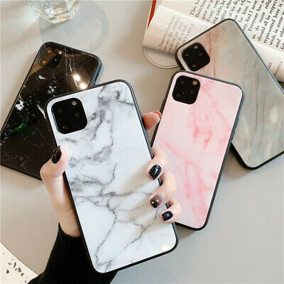 AU7.65 • Buy For IPhone 11 Pro Max 12 XR XS SE 8 Case Ultra Thin Marble Tempered Glass Cover
