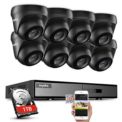 AU75.99 • Buy SANNCE 8CH CCTV Security Camera System 1080P HDMI DVR 3000TVL HD Home Outdoor 1T