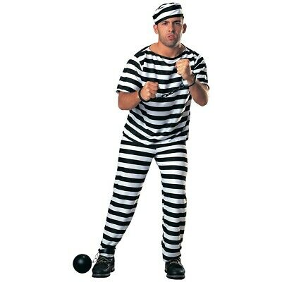 Mens Burglar Prisoner Prison Jail Halloween Fancy Dress Accessories • 10£
