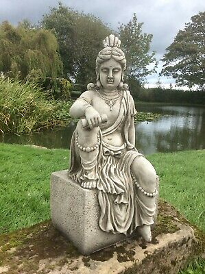 £88 • Buy Stone Garden Large Buddha On Plinth Statue - Ornament Figure Collection Only