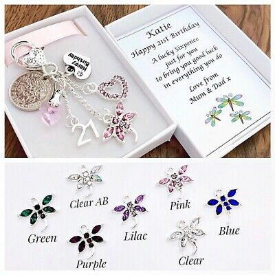 £4.45 • Buy 60th 65th 70th 80th Birthday Gift, Lucky Sixpence, Pink Dragonfly,16th 18th 21st
