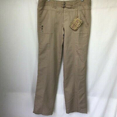 $17.98 • Buy NWT Free Style Revolution Junior Women's Pants Beige Belted Pockets Rayon Sz 13