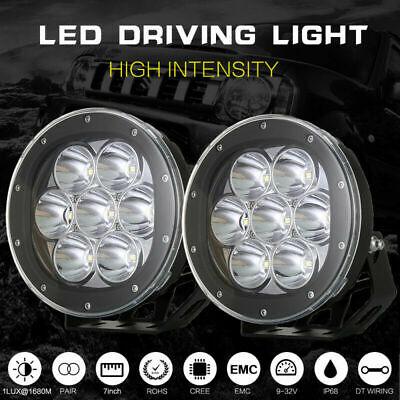 AU116.96 • Buy Cree 7inch LED Driving Lights Pair Round Spot Offroad 4x4 Work SUV Spotlight Ute