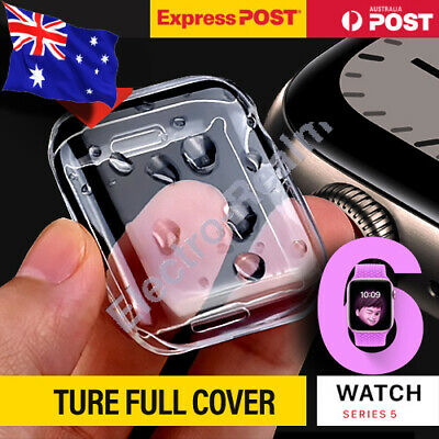 AU10.95 • Buy Full Cover Case IWatch Screen Protector For Apple Watch Series 6 5 4 SE 40/44mm