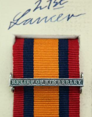 AU16.01 • Buy Qsa Queens South Africa Medal Ribbon Bar Clasp Relief Of Kimberley Boer War