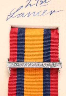 AU15.14 • Buy Qsa Queens South Africa Medal Ribbon Bar Clasp Johannesburg Boer War Campaign