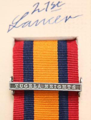 AU15.14 • Buy Qsa Queens South Africa Medal Ribbon Bar Clasp Tugela Heights Boer War Campaign