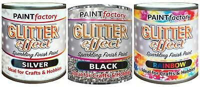 Sparkling Finish Glitter Effect Spray Paint Hobbies Artwork Craft Decorate 125ml • 4.79£