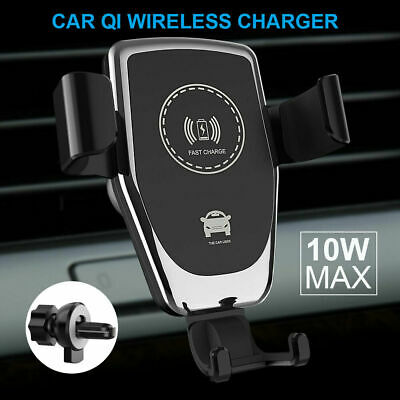 AU13.99 • Buy Qi Fast Charging Wireless Charger Car Mount Phone Holder Automatic Clamping AU