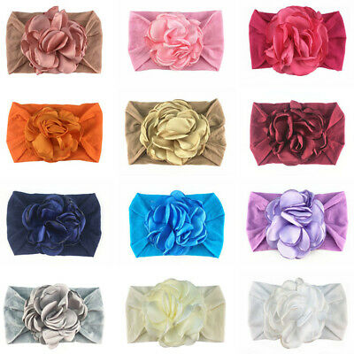 Infant Baby Girls Floral Headband Wide Elastic Band Newborn Hair Band Head Wrap • 2.95£
