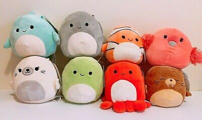 $ CDN66.18 • Buy Set Of 8 Kellytoy Squishmallows Sea Animals 5  Super Soft Mini Plush Dolls Toys