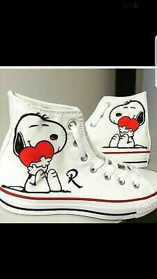 Converse All Star Printed With Snoopy With Heart • 120.65£