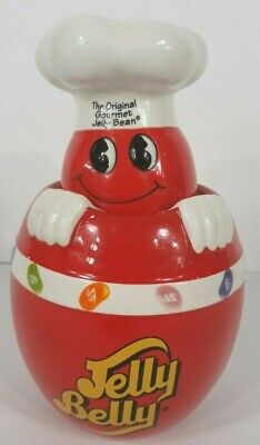 Jelly Belly-The Original Gourmet Jelly Bean-Jar-Canister-Red Ceramic Mint  • 6.76£