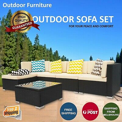 AU238.78 • Buy Outdoor Furniture Rattan Sofa Set Wicker Lounge Garden Patio Couch Setting AU