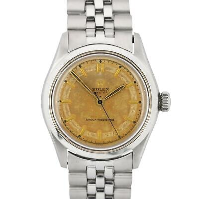 $ CDN2638.97 • Buy 1952 Vintage Rolex Oyster 34mm Stainless Steel Patina Concentric Watch 6282