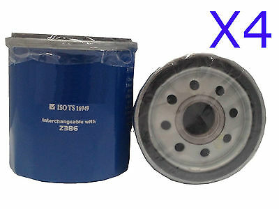 AU11.75 • Buy 4x Oil Filter Suits Ryco Z386  // (F386