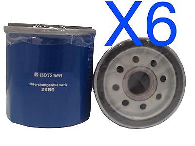 AU18.40 • Buy 6X Oil Filter Suits Ryco Z386 // (F386