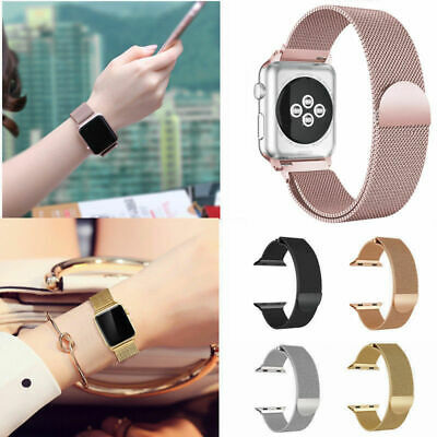 $ CDN12.43 • Buy For Apple Watch Series 3/2/1 Milanese Stainless Steel IWatch Band Strap 38/42MM