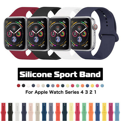 $ CDN3.94 • Buy Silicone IWatch Strap For Apple Watch Band 38/42/40/44mm Series 5/4/3/2/1 Sport
