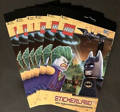 $14.97 • Buy NEW 6 Stickerland LEGO Batman Movie Books 295+ Stickers Each! Party Favors Gifts